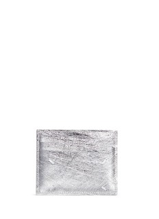 Maison Margiela Contrast stitch laminated leather card holder