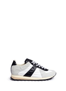 MAISON MARGIELA SHOES 'Retro Runner' mixed media sneakers