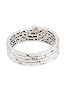 John Hardy Silver bamboo four row coil bracelet