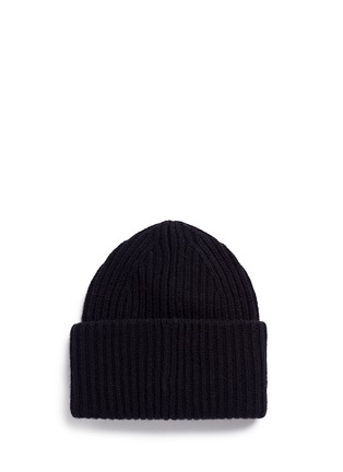 Figure View - Click To Enlarge - Acne Studios - 'Pansy' emoticon patch wool beanie