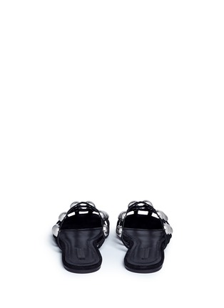 Back View - Click To Enlarge - Alexander Wang  - 'Amelia' ball stud caged suede slide sandals
