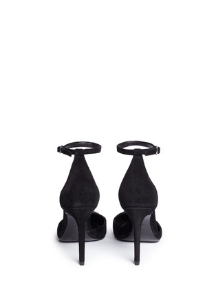 Back View - Click To Enlarge - Alexander Wang  - 'Kim' metal ring d'Orsay suede pumps