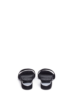 Back View - Click To Enlarge - Alexander Wang  - 'Lou' cutout heel suede slide sandals