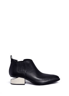 Alexander Wang  'Kori' cutout mirror metal heel leather Oxfords