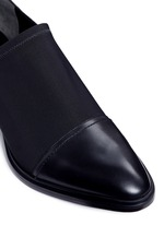 'Kori' cutout heel neoprene and leather slip-on Oxfords
