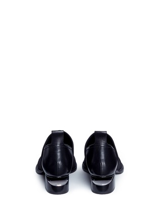 Back View - Click To Enlarge - Alexander Wang  - 'Kori' cutout heel neoprene and leather slip-on Oxfords