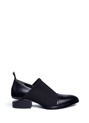 Main View - Click To Enlarge - Alexander Wang  - 'Kori' cutout heel neoprene and leather slip-on Oxfords