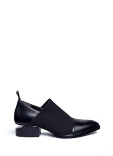 Alexander Wang  'Kori' cutout heel neoprene and leather slip-on Oxfords