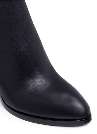 Detail View - Click To Enlarge - Alexander Wang  - 'Gabi' metal heel leather boots