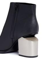 'Gabi' metal heel leather boots