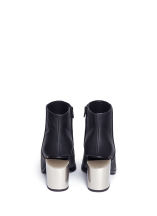 Back View - Click To Enlarge - Alexander Wang  - 'Gabi' metal heel leather boots