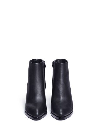 Front View - Click To Enlarge - Alexander Wang  - 'Gabi' metal heel leather boots