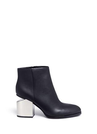 Main View - Click To Enlarge - Alexander Wang  - 'Gabi' metal heel leather boots