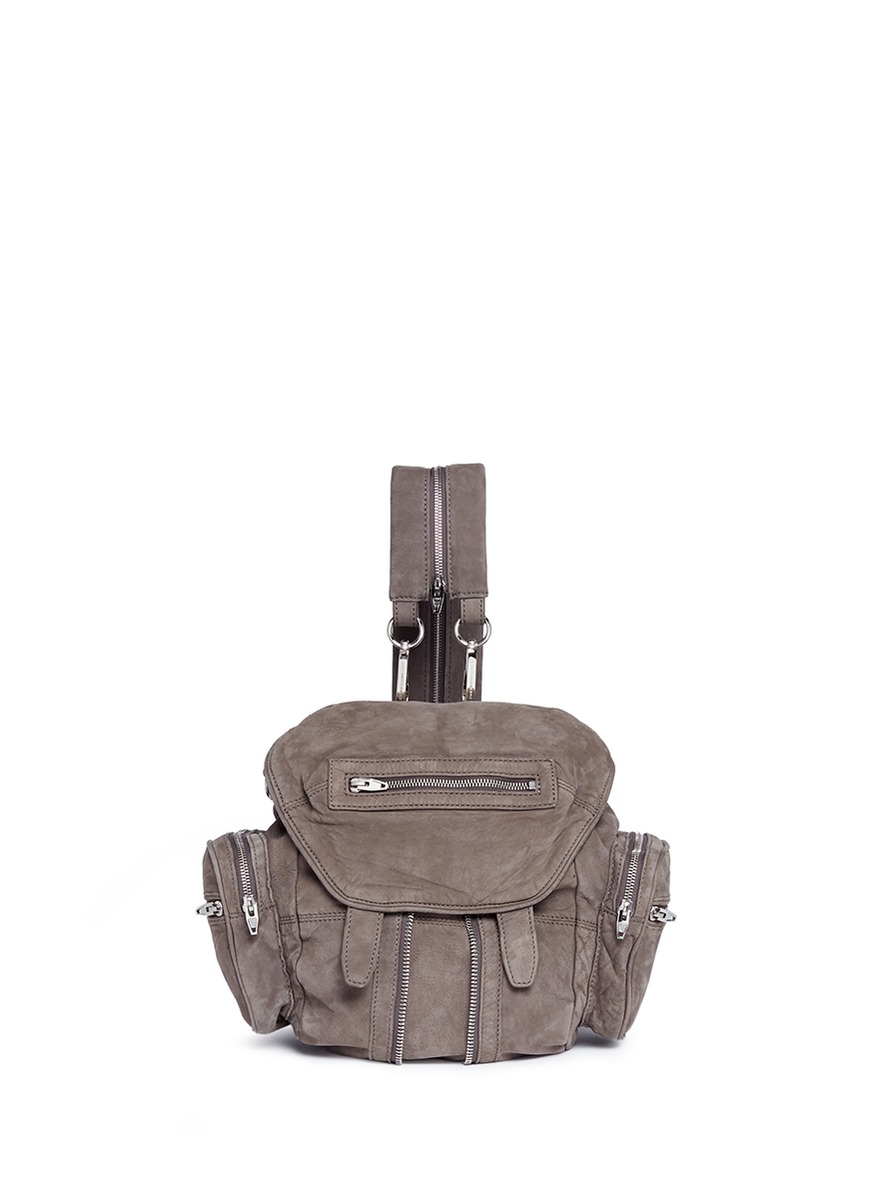 Mini Marti nubuck leather three-way backpack by Alexander Wang