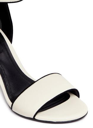 Alexander Wang -'Abby' chunky cutout heel leather sandals