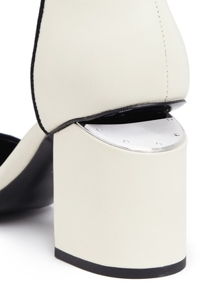 Detail View - Click To Enlarge - Alexander Wang  - 'Abby' chunky cutout heel leather sandals