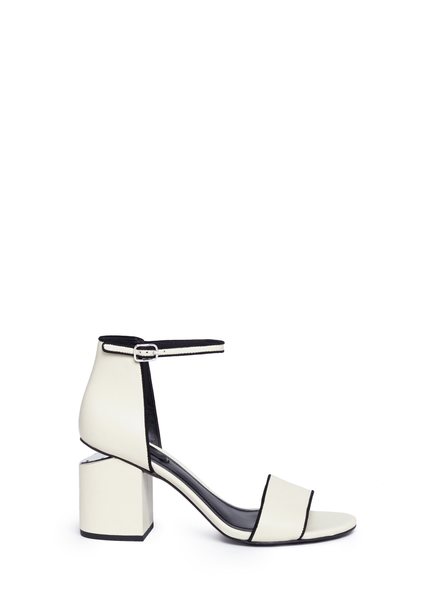 Abby chunky cutout heel leather sandals by Alexander Wang