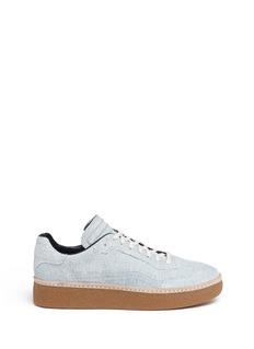 Alexander Wang 'Eden Low' washed denim platform sneakers
