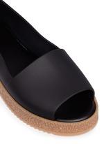 'Puzzle Ad' rubber platform open toe slip-ons