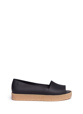 Main View - Click To Enlarge - Melissa - 'Puzzle Ad' rubber platform open toe slip-ons