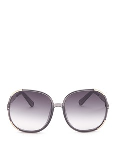 Chloé 'Myrte' panelled metal acetate square sunglasses