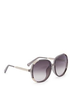 Chloé Panelled metal acetate square sunglasses