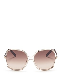 Chloé Cutout metal square sunglasses