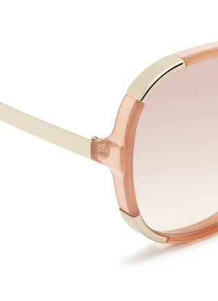 Detail View - Click To Enlarge - Chloé - 'Myrte' metal inset acetate square sunglasses