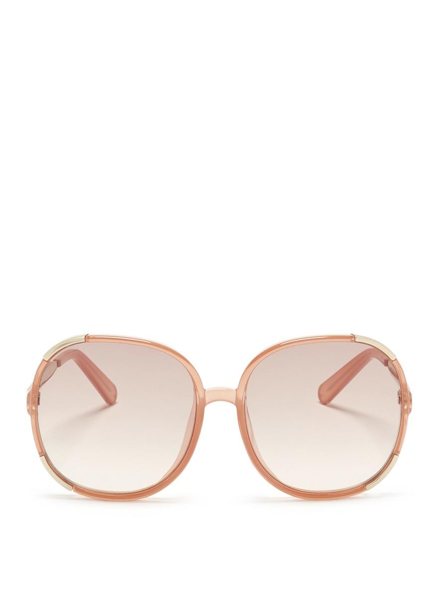 Myrte metal inset acetate square sunglasses by Chloé