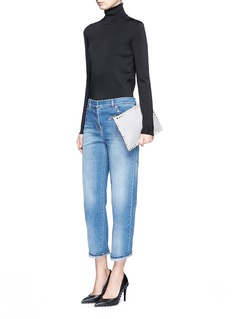 Valentino 'Rockstud Untitled 06' cropped straight jeans