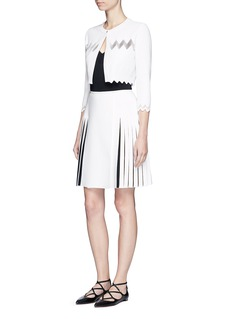 Alaïa 'Zigzag Filet' net cropped cardigan