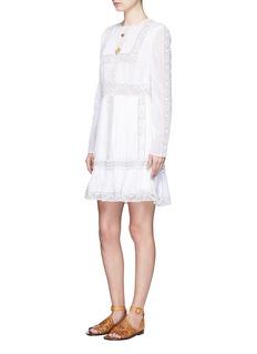 ValentinoBeaded stripe organdy dress
