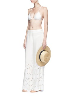 ViX 'Ninfa' cutwork embroidery beach pants