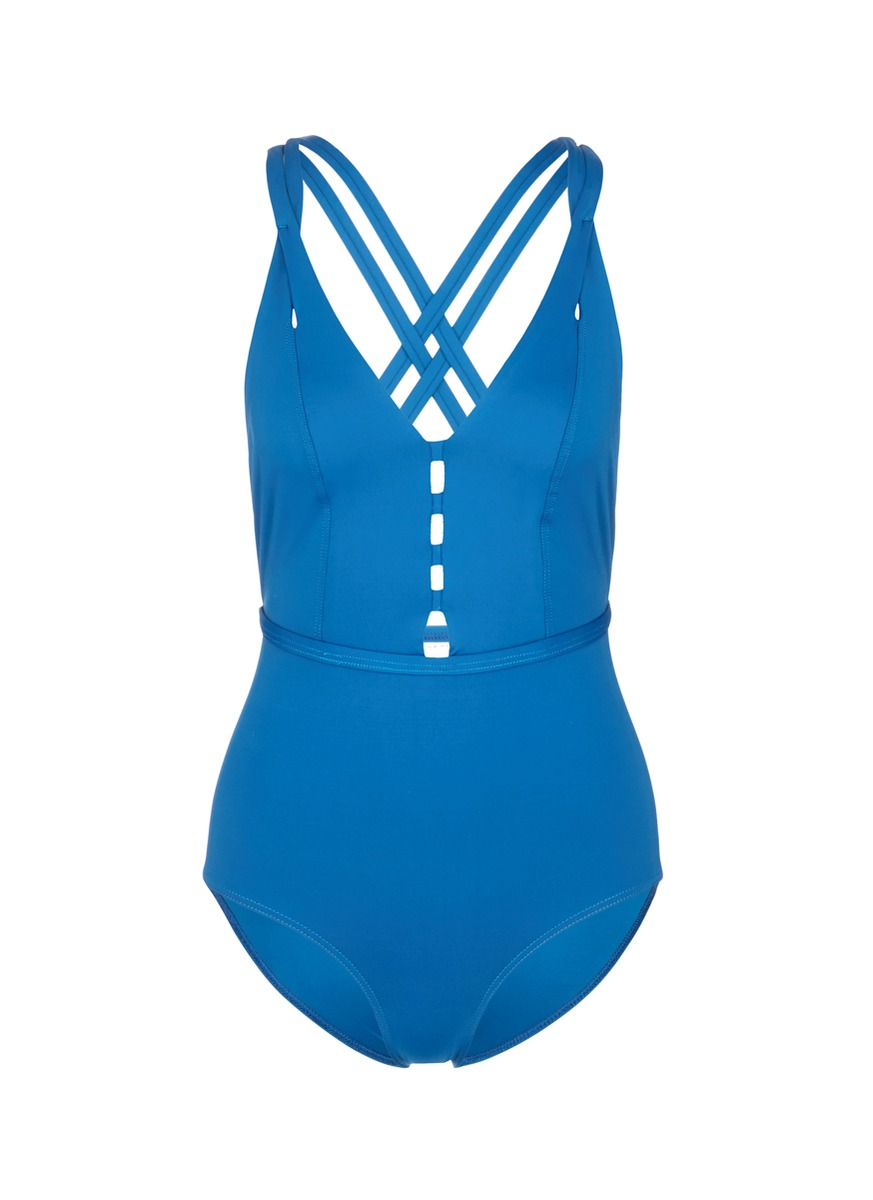 Crisscross back one-piece swimsuit by Ephemera