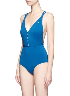 Ephemera Crisscross back one-piece swimsuit