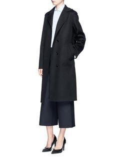 VALENTINO初剪羊毛混羊绒长款大衣