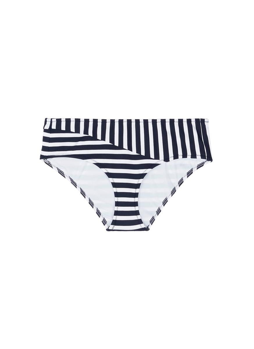Millie stripe hipster bikini bottoms by Araks