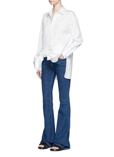 VICTORIA, VICTORIA BECKHAMOversized bow cotton poplin shirt