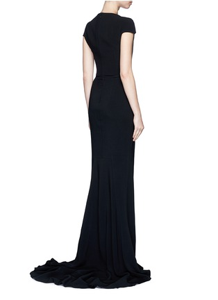 Back View - Click To Enlarge - Stella McCartney - Built-in bustier stretch cady gown
