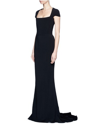 Front View - Click To Enlarge - Stella McCartney - Built-in bustier stretch cady gown
