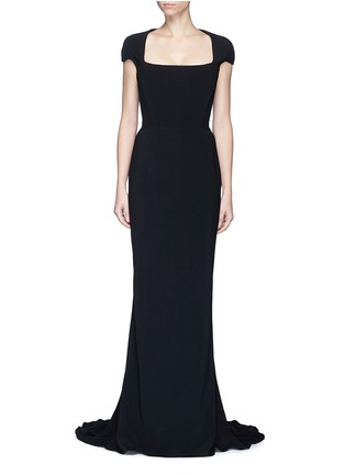 Main View - Click To Enlarge - Stella McCartney - Built-in bustier stretch cady gown