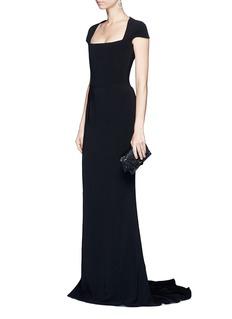 Stella McCartneyBuilt-in bustier stretch cady gown