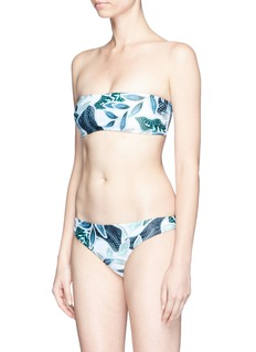 Mara Hoffman Sea tree print bandeau swim top