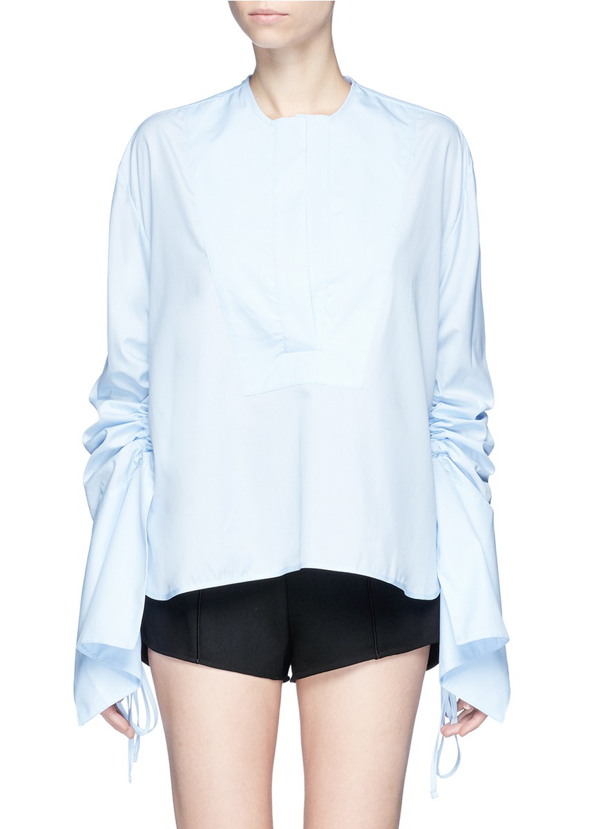 Blue Moon ruched sleeve tunic by Georgia Alice