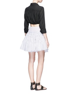 Alaïa 'Plumetis Brode' stitched dot flared skirt