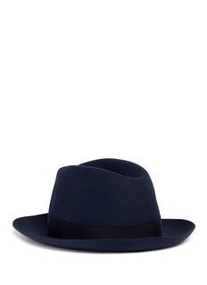 Borsalino'Alessandria' classic narrow brim fedora hat