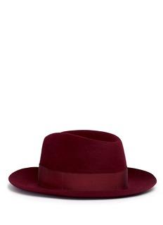 Borsalino'Alessandria' medium brim fedora hat