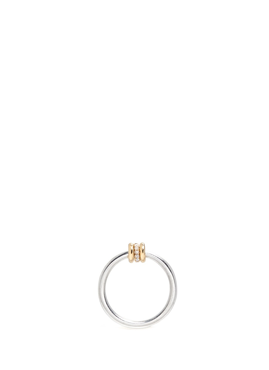 Sirius YG diamond 18k yellow and rose gold ring by Spinelli Kilcollin