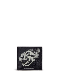 Alexander McQueenLion skull print leather bifold wallet