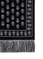 'Upside Down' skull intarsia wool-silk scarf
